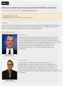 """Best Presentation Award 2014"" - 2nd place at Java Forum Stuttgart"